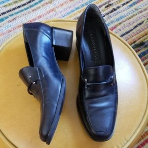 VTG Bandolino Black Leather Slip-On Loafers 9